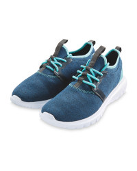 Crane Ladies Jersey Trainers - Blue