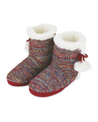 Ladies' Colourful Knitted Boots