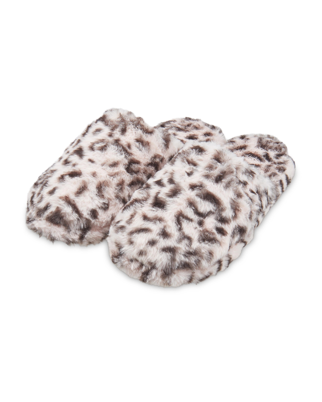 Avenue Ladies' Leopard Plush Mules