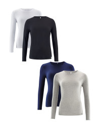 Ladies' Long Sleeve T-Shirt 2-Pack