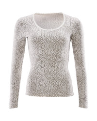 Avenue Ladies Long Sleeve Top - Leopard