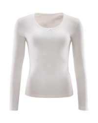 Avenue Ladies Long Sleeve Top - White
