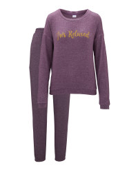 Avenue Ladies' Purple Loungewear Set