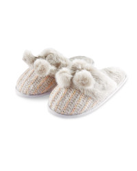 Ladies Luxury Knitted Slippers