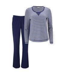 Ladies' Avenue Navy Striped Pyjamas