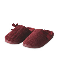 Burgundy Memory Foam Slippers