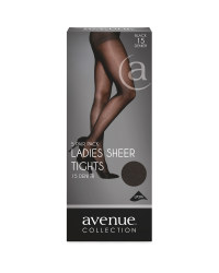 Ladies Sheer Tights 5-Pack - Black