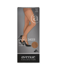 Ladies Sheer Tights 5-Pack - Nude