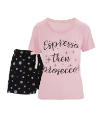 Ladies' Shorty Prosecco Pyjamas
