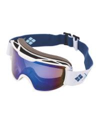 Crane Ladies Ski & Snowboard Goggles - Blue/White