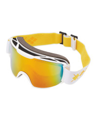 Crane Ladies Ski & Snowboard Goggles - Orange/White