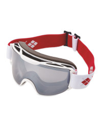 Crane Ladies Ski & Snowboard Goggles - White/Red/Grey