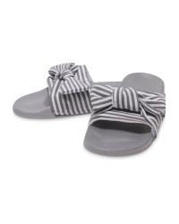Avenue Ladies' Grey Knot Sliders
