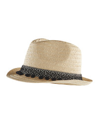 Ladies Straw Tilby Hat