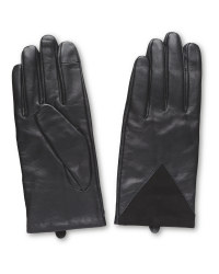 Avenue Ladies' Suede Patch Gloves