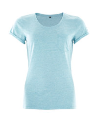 Crane Ladies Teal Outdoor T-Shirt