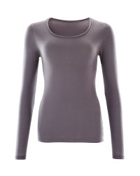 Ladies Thermal Long Sleeve T-Shirt - Charcoal
