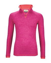 Ladies Zip Neck Top - Berry