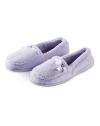 Ladies Towelling Slippers - Lilac