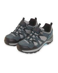 Grey/Aqua Ladies' Trekking Shoes