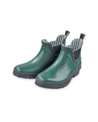 Ladies' Wellington Boots - Green & Black