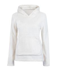 Ladies' White Fleece Midlayer