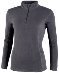 Ladies Zip Neck Fleece - Anthracite