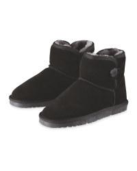 Lambskin Lined Boots - Black