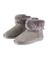 Lambskin Lined Boots - Grey