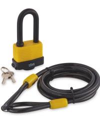 Laminated Padlock and Cable