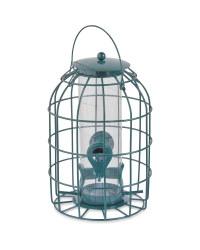 Lantern Bird Seed Feeder Green
