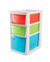 Large 3-Drawer Tower - Red/ Green/ Blue