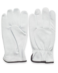 Large Ash Leather Garden Gloves