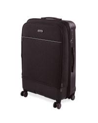 Large Black Hybrid Suitcase