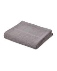 Lily & Dan Large Cellular Blanket - Dark Grey