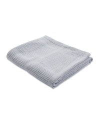 Large Cellular Blanket - Grey