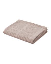 Lily & Dan Large Cellular Blanket - Natural Beige