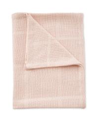 Large Cellular Blanket - Pink
