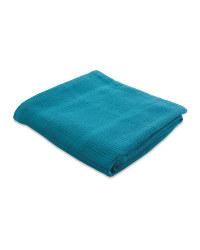 Large Cellular Blanket - Teal