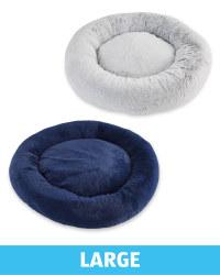 Large Comfy Short Pile Pet Bed