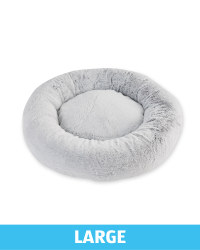 Large Comfy Short Pile Pet Bed - Grey