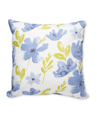 Large Floral Blue Cushion