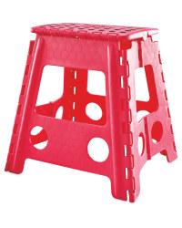 Large Folding Step Stool - Pink