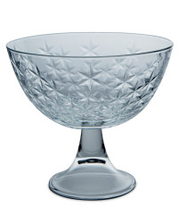 Large Footed Glass Bowl