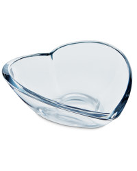Large Glass Heart Bowl