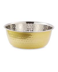 Large Gold Pet Feeding Bowl