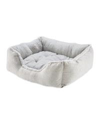 Large Grey Plush Pet Bed