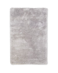Large Luxury Shaggy Rug - Light Grey