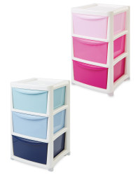 Premier Large Ombre 3 Drawer Tower
