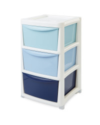 Premier Large Ombre 3 Drawer Tower - Blue